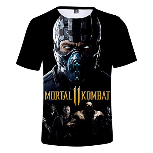 Oxking Kids Child Girls and Boys Unisex Family Comedy Movie Summer 3D Graphic Print T-Shirt Mortal Kombat 11 00830A5 S for $<!--$16.99-->
