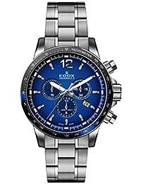 Men's Chronorally S 44mm Steel Bracelet & Case Swiss Quartz Blue Dial Analog Watch 10229 3NBUM BUIN