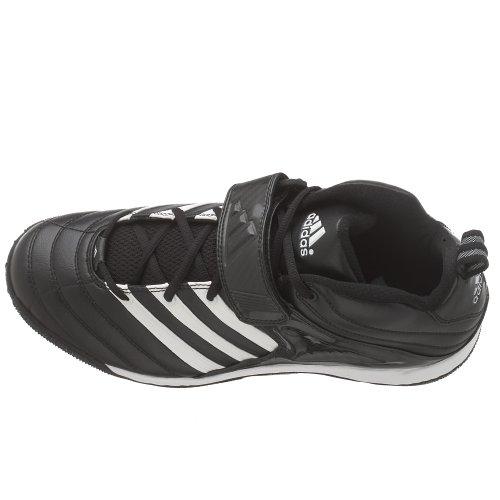 Scarpa Da Calcio Adidas Mens Iron 3/4 Modellata Nero / Bianco / Argento