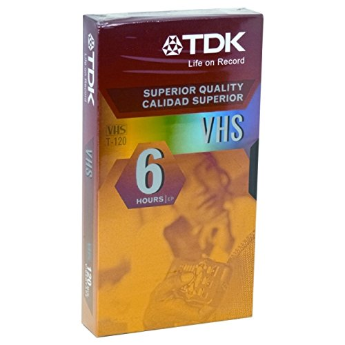 Tdk Video Tape T120 2 - 4 - 6 Hr. Peggable