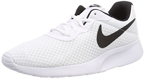 Nike Tanjun White/Black 7 M US by NIKE