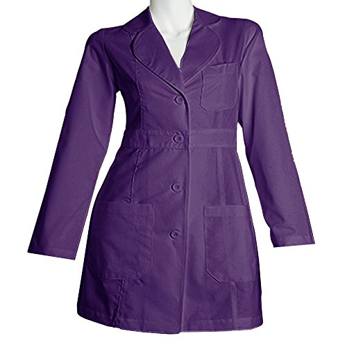 Panda Uniform Made to Order Women's 34 inches Medical Consultation Lab Coat-Purple-L by Panda Uniform