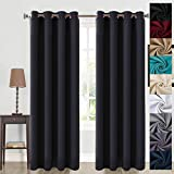 Balichun 99% Blackout Thermal Insulated Blackout Grommet Window Curtain for Living Room