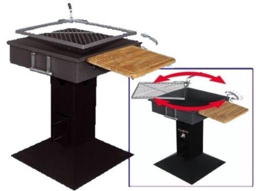all'ingrosso a buon mercato Barbecue a carbone struttura in acciaio acciaio acciaio con griglia rotante inox cm. 50x50  seleziona tra le nuove marche come