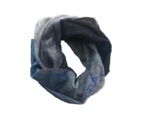Frozen Forever Merino Snood Scarf by Mimi Pinto on Amazon UK