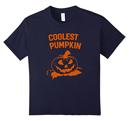 Kids Coolest Pumpkin Funny Halloween Costume T-Shirt 12 (Coolest Costumes For Halloween)