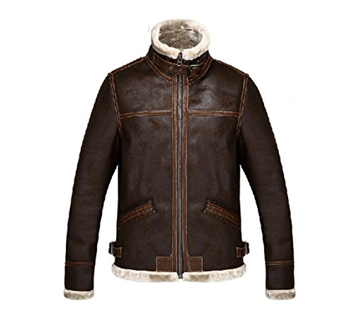 Koveinc Resident Evil 4 Leon Kennedy Men's PU Leather Jacket-Male-XXX-Large]()