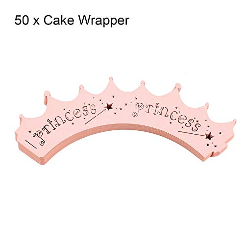 BFHCVDF 50 unids Laser Cut Cupcake Wrappers Corona Forma ...