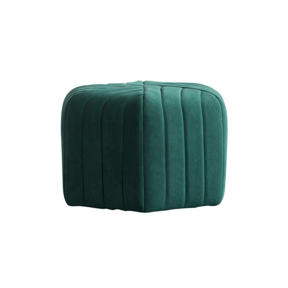 5 Colori Color : Blue, Size : 47x30cm LIANGLIANG-shafadeng Pouf Poggiapiedi Salotto Domestico Soggiorno Impermeabile Cotone Sgabello Basso Morbido Confortevole Resistente allUsura