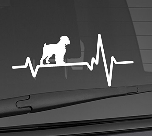 Heart Beat Line Heartbeat DOG BLACK RUSSIAN TERRIER Love Food Bowl Canine Puppy Paw Love Car Vinyl Sticker Wall Decal 3.75