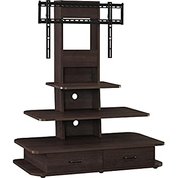 """Ameriwood Home Galaxy TV Stand with Mount and Drawers for TVs up to 70"""" Wide, Espresso"""