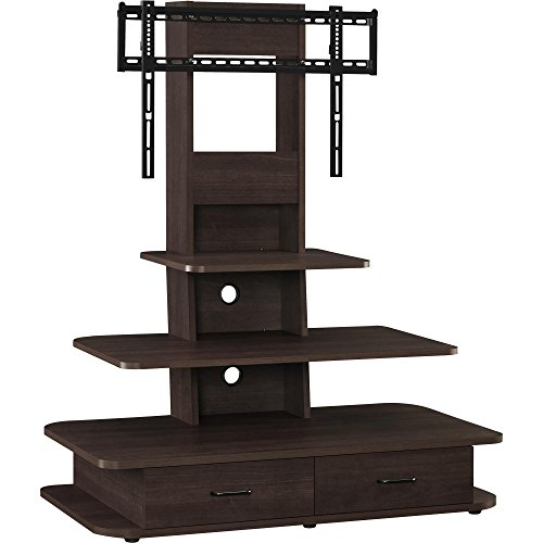 "Ameriwood Home Galaxy TV Stand with Mount and Drawers for TVs up to 70"" Wide, Espresso"