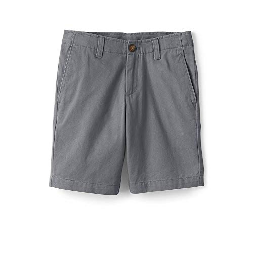 (Lands' End Boys Chino Cadet Shorts, 14, Cadet)
