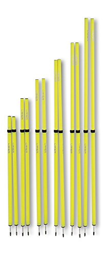 Uber Soccer Adjustable Speed and Agility Training Poles - Yellow - 40 to 72 inches ()