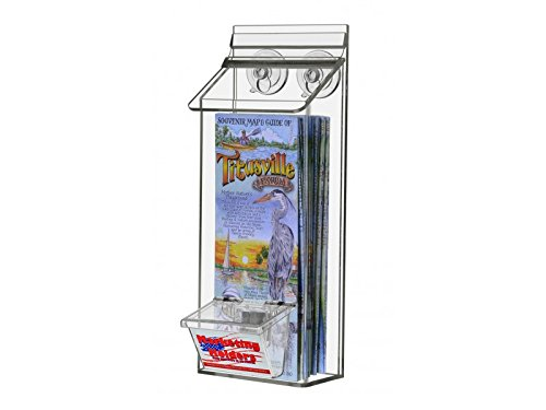 Marketing Holders Outdoor Literature Display Box Suction Cups Realtor Holder Brochure Pamphlet Display with Attached Business Card Holder 4