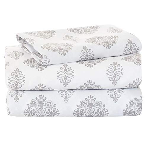 OCM Suri 300 Thead Count 100% Cotton 3-Piece Twin XL Sheet Set for College Dorm Residence Hall Extra Large Twin Bed