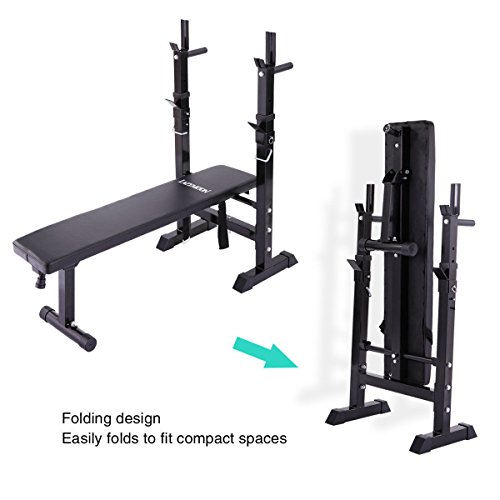 Jaxpety Adjustable Folding Weight Lifting Flat Incline