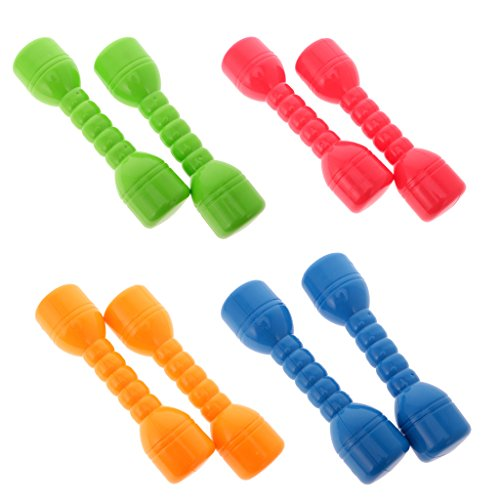 Jili Online 20cm 8 Pieces Plastic Dumbbells Equipment Fitness Tools with Sound Kids Toys Gifts