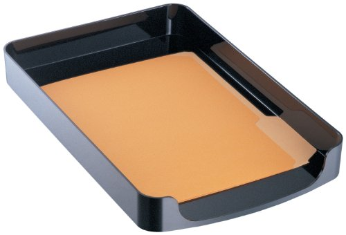 Officemate 2200 Series Executive Legal Tray, Front Load, Black (22242) ()
