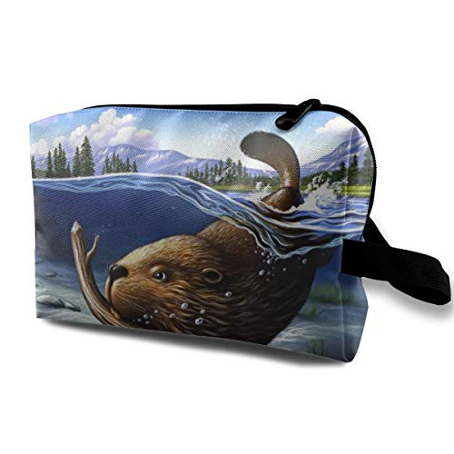 With Wristlet Cosmetic Bags Busy Beaver Travel Portable Makeup Bag Zipper Wallet Hangbag -