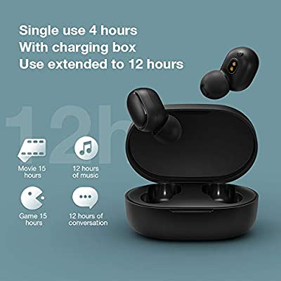 Xiaomi Redmi Airdot Wireless Earphone Bluetooth 5.0 Stereo Earbuds Charging Case Mini Headphones Sweatproof Sport in-Ear Earphones Black