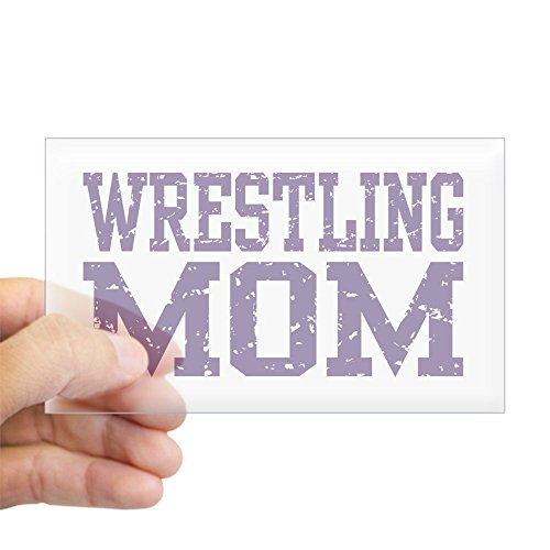 CafePress Wrestling Mom Rectangle Sticker Rectangle Bumper Sticker Car Decal