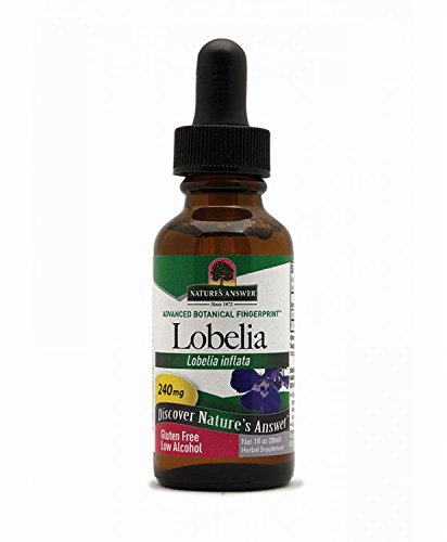 Nature's Answer Lobelia Herb with Organic Alcohol, 1-Fluid Ounce