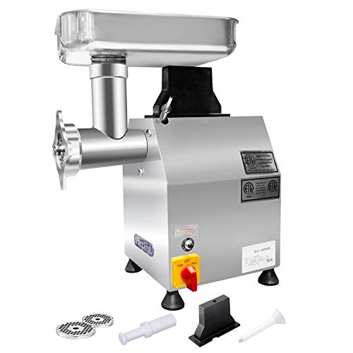 (Heavy Duty Commercial 1HP Electric Meat Grinder - PREPPAL 735W Stainless Steel Sausage Stuffer For Restaurant/Deli/ Home (250lbs Per Hour))