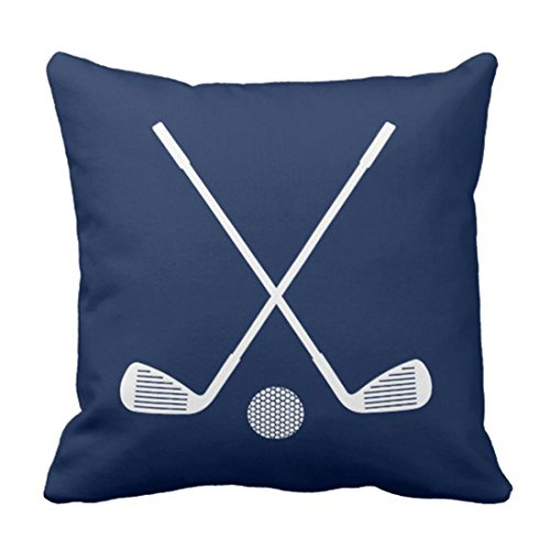 Emvency Throw Pillow Cover Boys Golf Sports in Navy Blue and Room Decorative Pillow Case Home Decor Square 18 x 18 Inch Pillowcase -