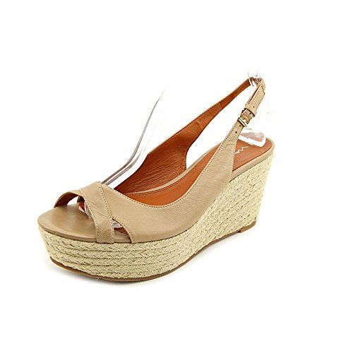 7 Womens Luciana Wedge Shoes UK Via Spiga Nude Size Sandals Leather BvwgqW
