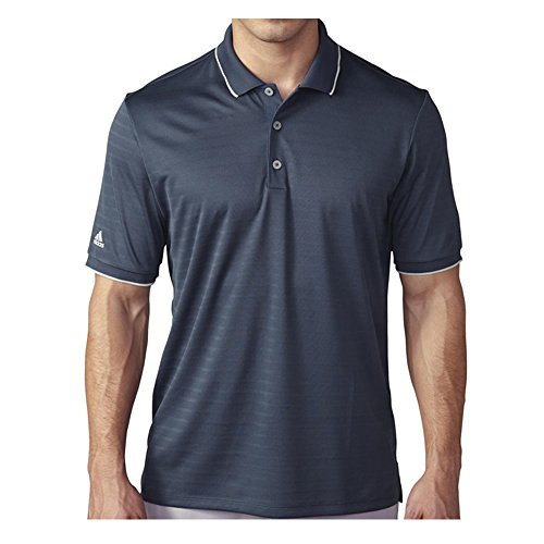 adidas Golf Men's Golf Climacool Tipped Club Polo Shirt, Mineral Blue, Small