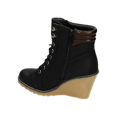 King Of Shoes Women's Classic Boot Black ZLXjfv