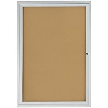 Displays2go 2x3 Foot Cork Enclosed Bulletin Board 24\