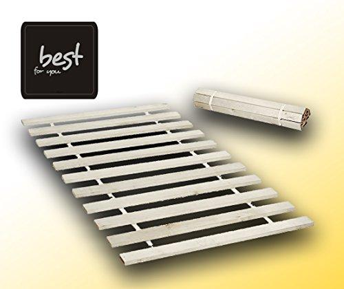 Best For You Rollrost aus 15 oder 20 massiven stabilen Holzlatten Geeignet für alle Matratzen - in 2 Grössen 90x200 cm und 140x200 cm (140x200-10 Latten)
