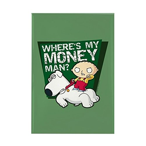 CafePress Family Guy My Money Rectangle Magnet, 2