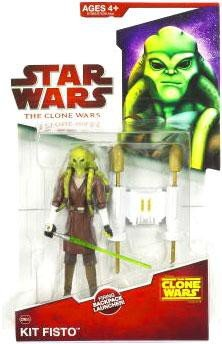 Star Wars 2009 Clone Wars Animated Action Figure Kit Fisto - Star Wars Clone Wars Kit Fisto