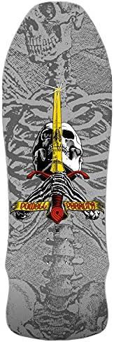 Powell Peralta Skateboard Deck Geegah Skull Sword Silver Re-Issue