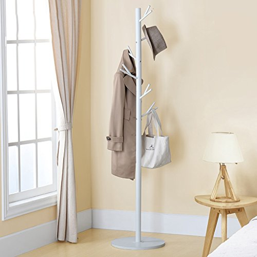 Stainless Steel Coat Racks Landing Bedroom Living Room Iron Simple Tree Twigs Hangers -Coat rack/coat hook (Color : White)
