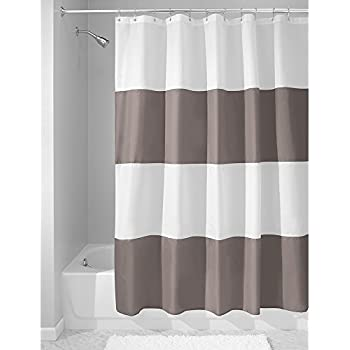 dark grey shower curtain. InterDesign Mildew Free Water Repellent Zeno Fabric Shower Curtain  72 Inch by Amazon com Madison Park MP70 1483 Spa Waffle 72x72