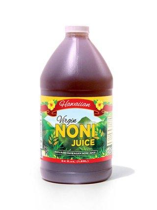 Concentrate 0.5 Gallon Bottle (Virgin Noni Juice - 100% Pure Organic Hawaiian Noni Juice - Half Gallon Jug (64oz))