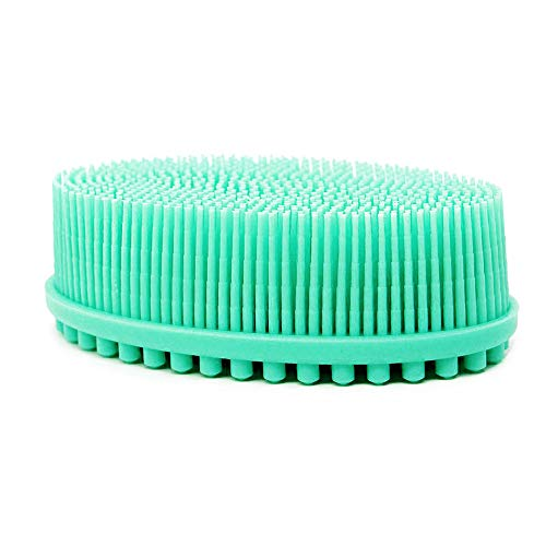 Bath & Shower Loofah Brush, Gentle Scrub Skin Exfoliation. 100% Silicone