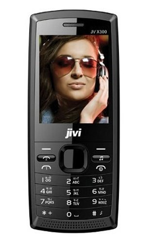 Jivi JV X300 8GB Dual SIM Mobile Phone with High Res Camera, Bluetooth and MP3/MP4 Player (Black) by Jivi