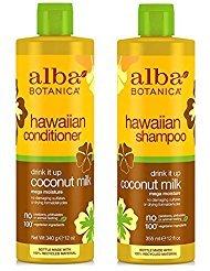 alba-botanica-drink-it-up-coconut-milk-hawaiian-duo-set-shampoo-and-conditioner-12-ounce-bottle-each