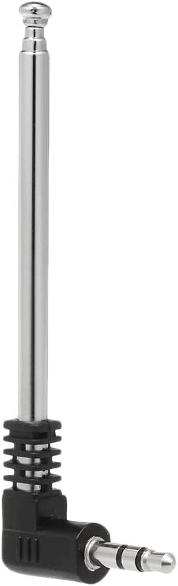 Noprm FM Radio Antenna 3.5mm Retractable Aerial 4 Sections L-Shape 240mm Antenna