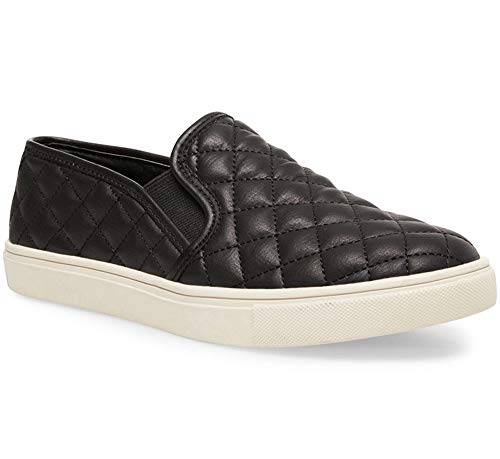 Charles Albert Comfort Slip On Sneaker - Quilted Fashion Shoes (8, Black)
