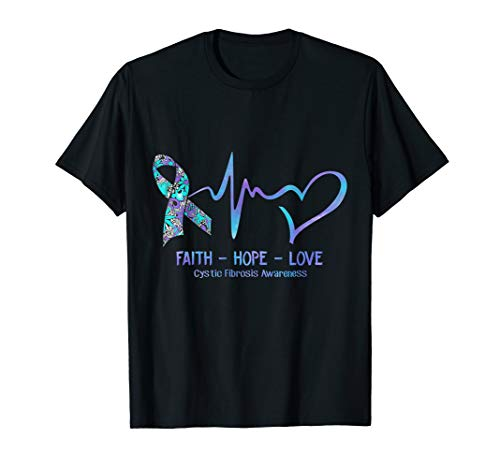 (Faith Hope Love Cystic Fibrosis Awareness Ribbon)
