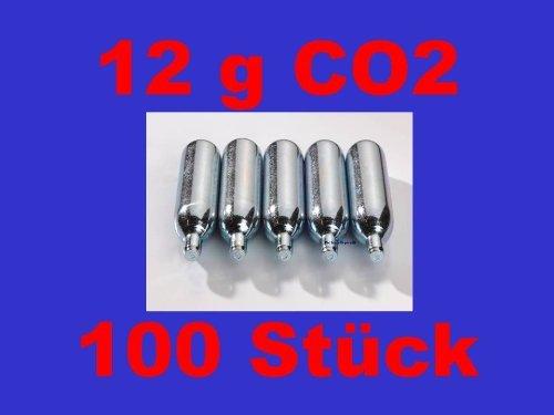 100 x 12g Co2 Kapseln für Softair, Painball, Luftgewehre oder Luftpistolen Mosa