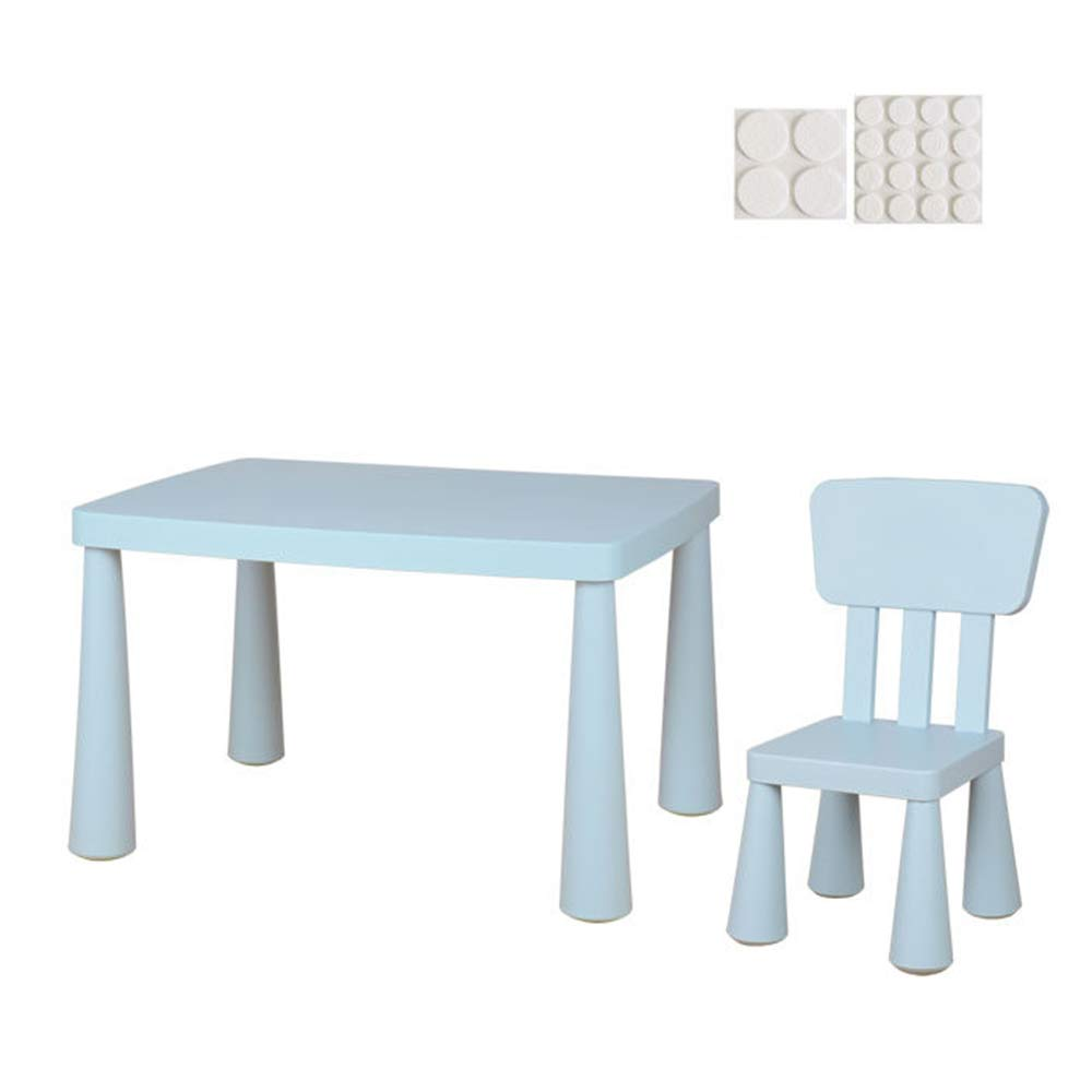 Kindertisch Und Stühle, Für Den Innen- Und Außenbereich Geeignet, Spieltisch Aktivitäts Tisch Esstisch Schreibtisch 1-7 Jahre Alter Junge Und Mädchen Blau 1 table + 1 chair