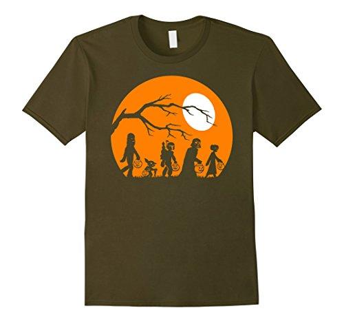 Mens Star Wars Trick Or Treat Halloween Silhouette T-Shirt 3XL Olive -