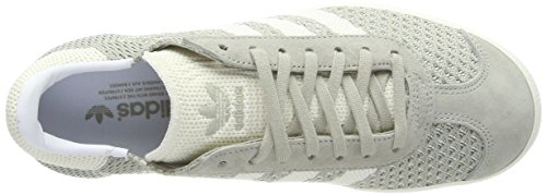 adidas Gazelle Primeknit, Scarpe da Ginnastica Basse Uomo Grigio (Sesame/Off White/Trace Green)